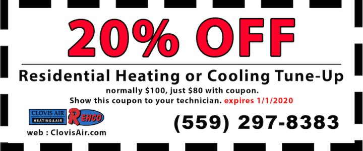Clovis Air / REHCO coupon for 20% off of a tune-up